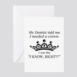 I Needed A Crown Greeting Card