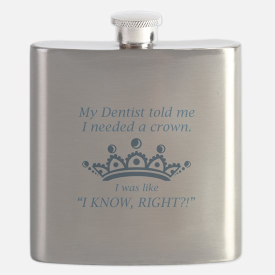 I Needed A Crown Flask