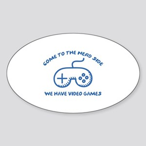 Come To The Nerd Side Sticker (Oval)