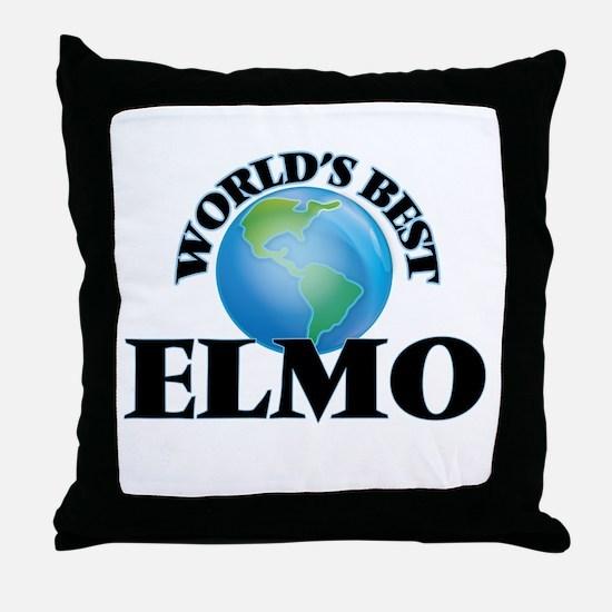 World's Best Elmo Throw Pillow