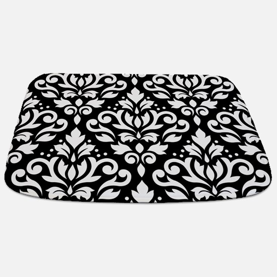 Scroll Damask Wb Lg Ptn Bathmat