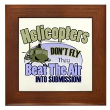 Helicopters Don't Fly Framed Tile