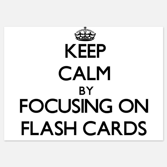 Keep Calm by focusing on Flash Cards Invitations