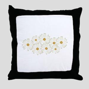 Daisy Flowers Throw Pillow