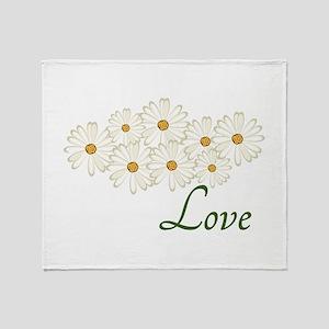 Love Daisies Throw Blanket
