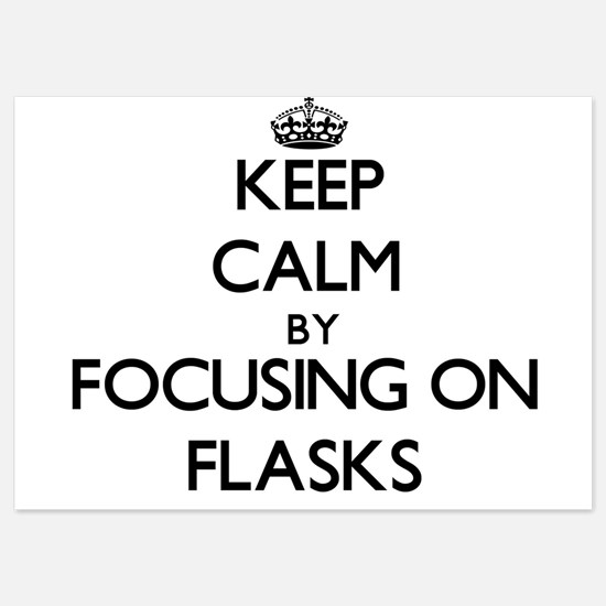 Keep Calm by focusing on Flasks Invitations