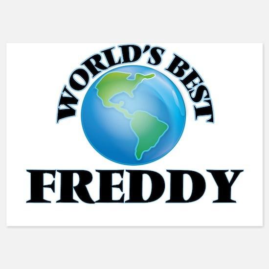 World's Best Freddy Invitations