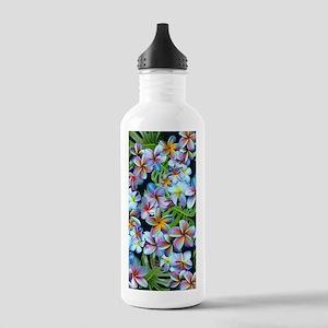 Rainbow Plumeria Dark Water Bottle