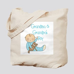 Grandma and Grandpa's Boy Tote Bag