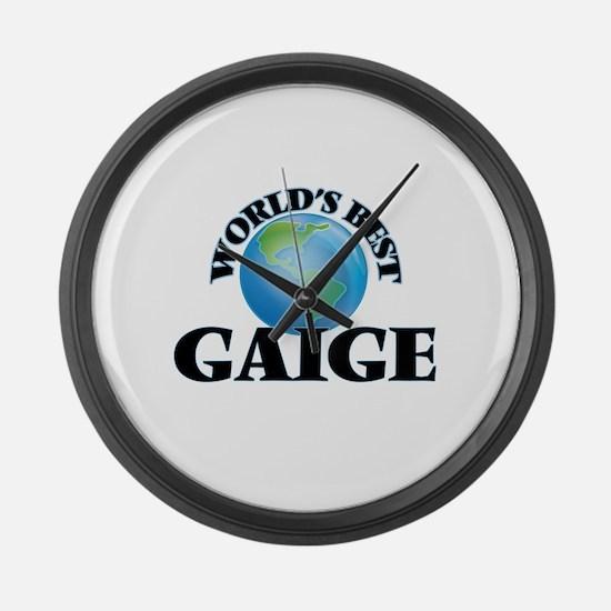 World's Best Gaige Large Wall Clock