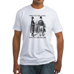 Masons meet on the level Fitted T-Shirt