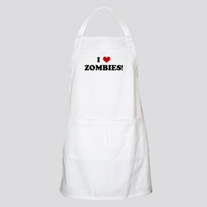 I Love ZOMBIES! BBQ Apron