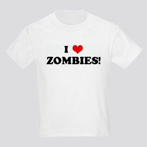 I Love ZOMBIES! Kids Light T-Shirt