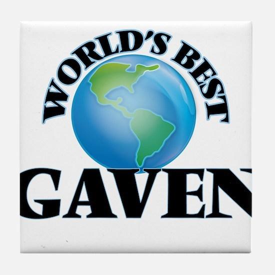 World's Best Gaven Tile Coaster