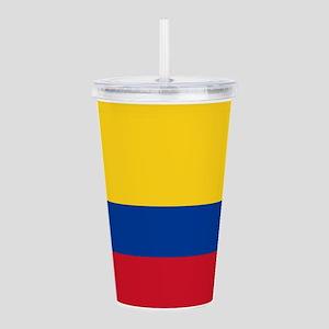 Colombia Flag Acrylic Double-wall Tumbler
