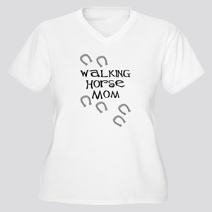 Walking Horse Mom Women's Plus Size V-Neck T-Shirt