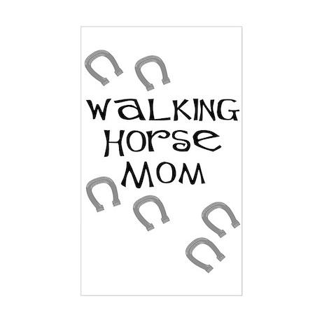 Walking Horse Mom Rectangle Sticker