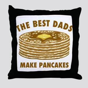 Best Dads Make Pancakes Throw Pillow