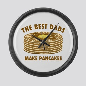 Best Dads Make Pancakes Large Wall Clock