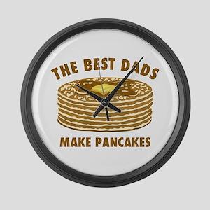 Best Dads Make Pancakes Large Wall Clock