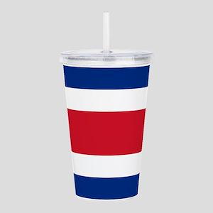 Costa Rica Flag Acrylic Double-wall Tumbler