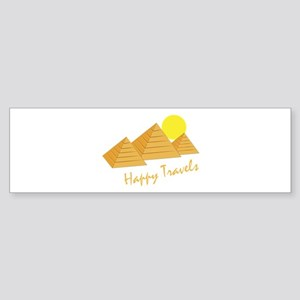 Happy Travels Bumper Sticker