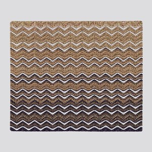 Ombre Chevron I Throw Blanket