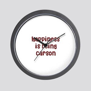 happiness is being Carson Wall Clock