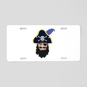 Pirate Head Aluminum License Plate