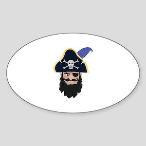 Pirate Head Sticker