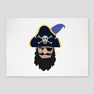 Pirate Head 5'x7'Area Rug