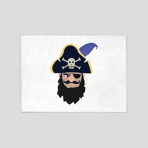 Pirate Head 5'x7'Area Rug