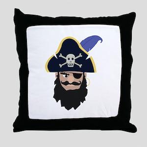 Pirate Head Throw Pillow