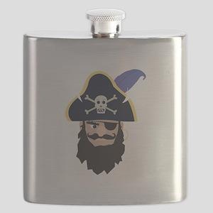 Pirate Head Flask