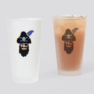 Pirate Head Drinking Glass