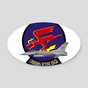 389sq01 Oval Car Magnet