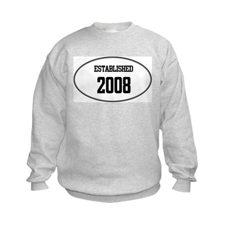 Established 2008 Kids Sweatshirt