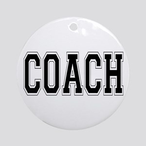 Coach Ornament (Round)