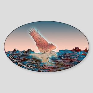 Coppery Eagle at Dawn Oval Sticker