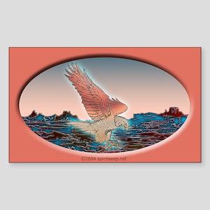 Coppery Eagle at Dawn Sticker (Rect.)