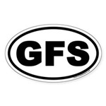 GFS Oval Sticker