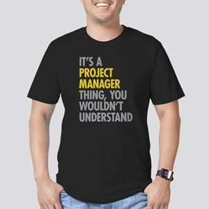 Project Manager Thing Men's Fitted T-Shirt (dark)