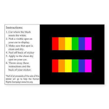 Equality Rainbow Sticker