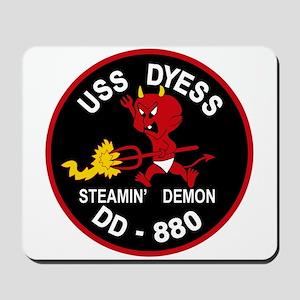 DD-880 A USS DYESS Destroyer Ship Milita Mousepad