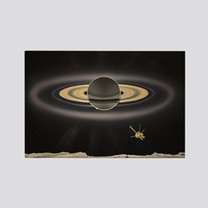 Saturn Silhouette Magnets