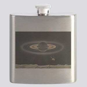 Saturn Silhouette Flask