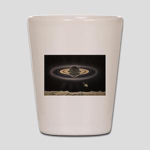 Saturn Silhouette Shot Glass