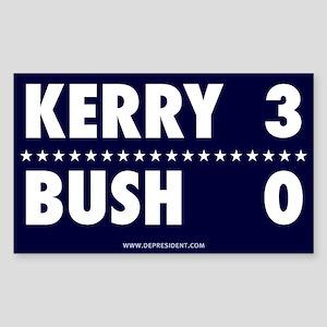Kerry 3 - Bush 0