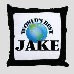 World's Best Jake Throw Pillow