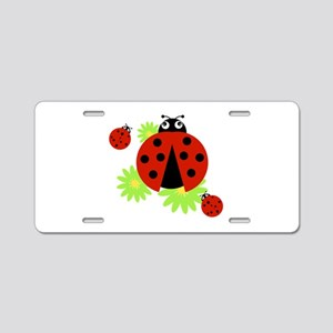 Ladybugs Aluminum License Plate